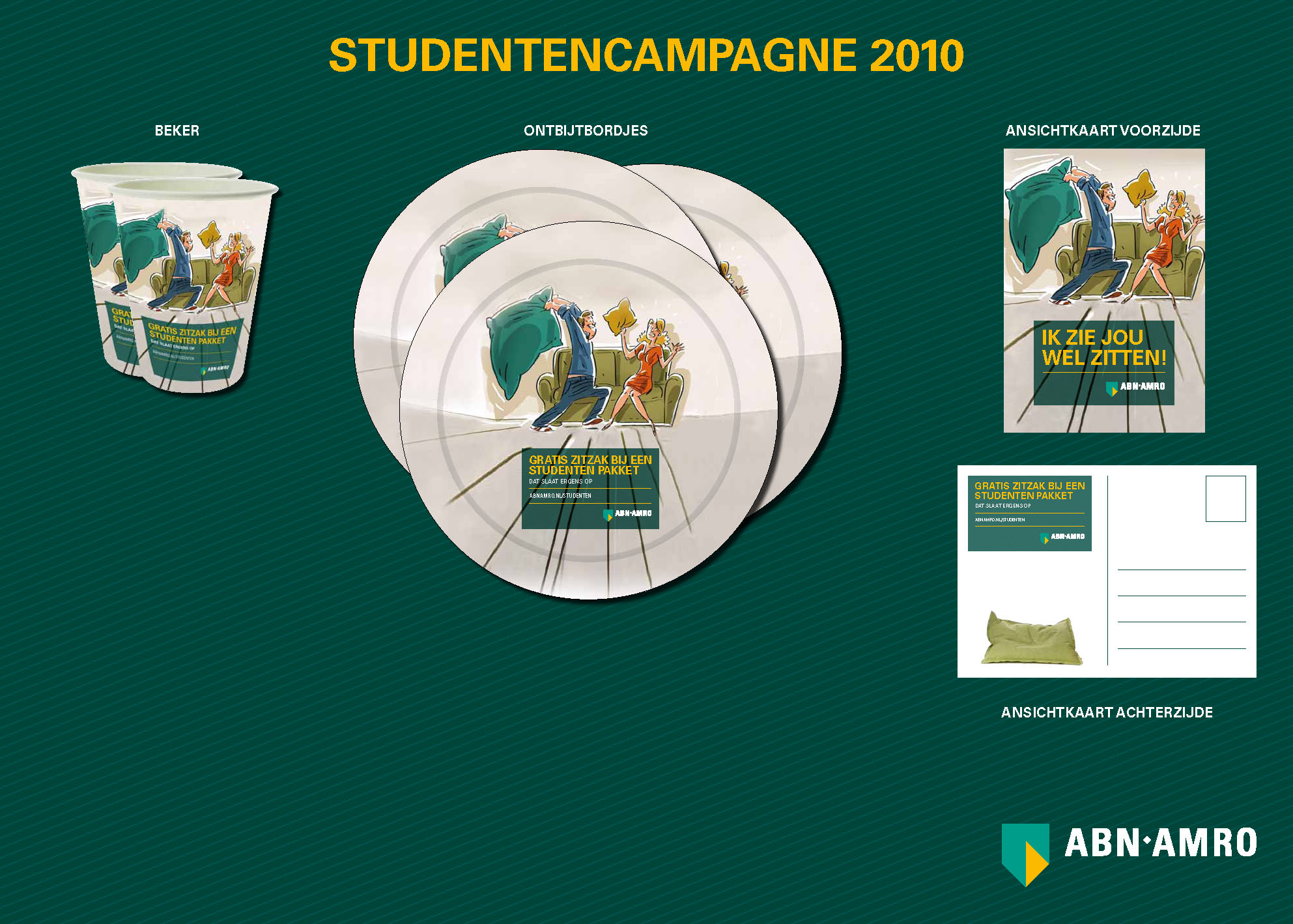 Abn Amro Zitzak.Copy Concept Studentencampagne